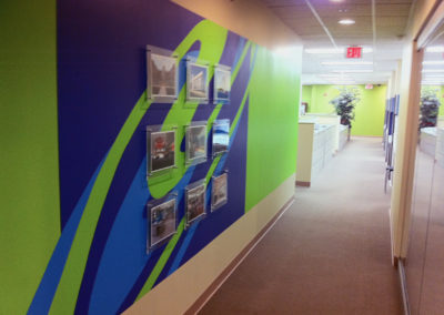 moden accent mural for office in Washington DC