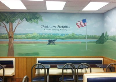 Historic Mural of Chatham Heights for McDonalds restaurant in Fredericksburg, VA