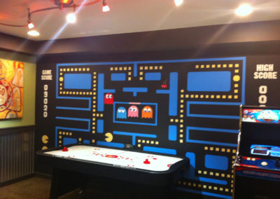 Retro Pacman arcade video game mural in Urbana MD