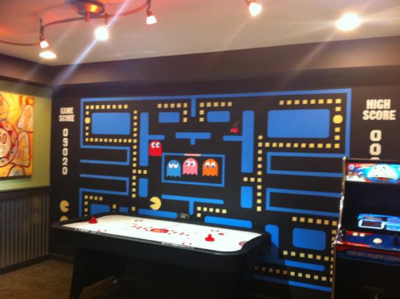 Retro Pacman arcade video game mural in Urbana MD