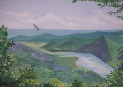 Pennsylvania mountains mural of Kettle Creek