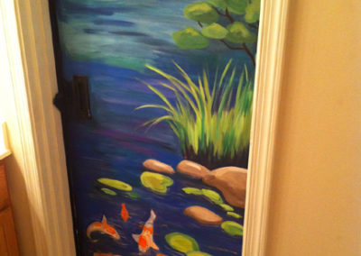 Mural with Japanese koi pond in MD