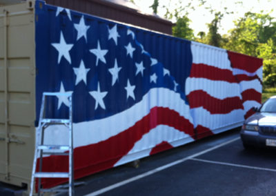 American flag mural on metal in Fort Washington, MD