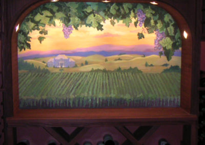 Custom wine cellar mural in Virginia