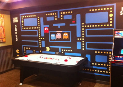 Pacman arcade video game mural in Maryland