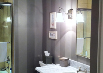 painted grey stripes in bathroom Arlington VA